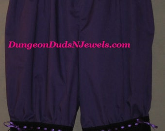 DDNJ Choose Color Bloomers Pantaloons Costume Larp Anime Plus Custom Made ANY Size Renaissance Steampunk Gothic Civil War Pirate Gypsy