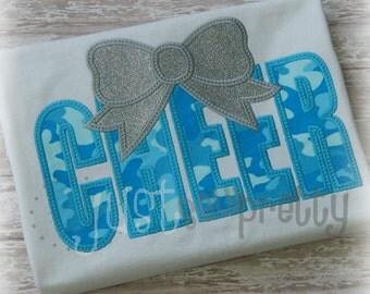 Cheer Bow Embroidery Applique Design