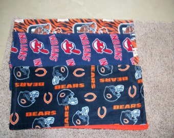 Baby's First Blanket (Choose from Chicago Bears traditional, Detroit Tigers or Cleveland Indians)