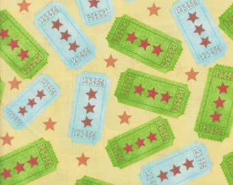 David Textiles Hallmark HM 1079 1C 1 Green and Blue Tickets by the yard