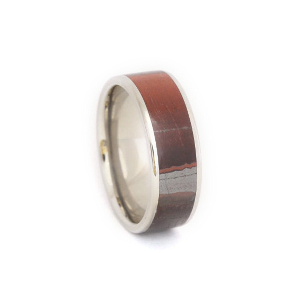 Tigers Eye Ring Solid Stone Titanium Ring Titanium Stone