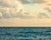 Oversized Large Ocean Photograph, Ocean and Clouds, 30x40, 30x45, 40x60 Original Signed Fine Art Photograph by Tricia McKellar, No. 9251