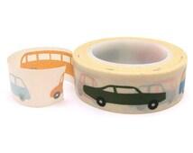 Retro Cars Washi Tape - 15mm x 10m - Boys Washi Tape Roll - Fun Washi Tape - Washi Tape Australia