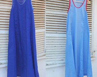 Cotton Batiste Sleeveless Dress -  transparent fairy breath Slip on Summer Dress - layered cotton muslin by kathrin kneidl