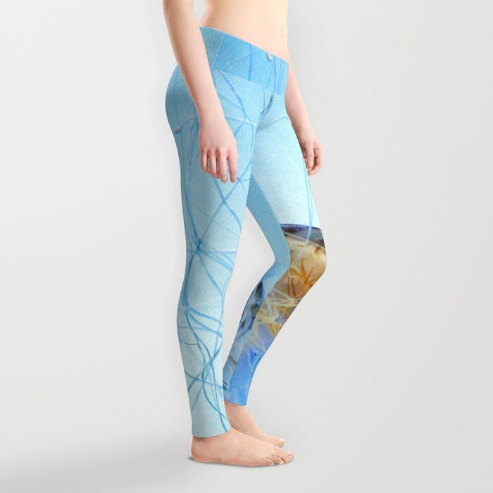 Jellyfish Leggings Ocean Blue Yoga Pants Unique Fashion By