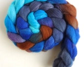Organic Polwarth Roving - Handpainted Spinning or Felting Fiber, Natural Forces