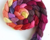 Merino/ Superwash Merino/ Silk Roving (Top) - Handpainted Spinning or Felting Fiber, Lola