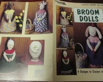 Doll Crochet Pattern Broom Dolls Leisure Arts 2083 Joan Beebe Crocheting Pattern Leaflet