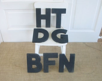 Vintage Letter Black B F N D G T H Industrial Graphic Sign Text Supply Plastic