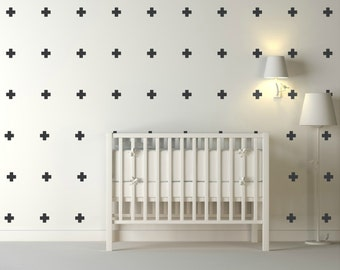 White Cross Vinyl Wall Stickers Nursery Decal Pattern