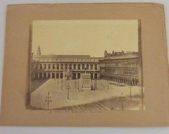 Antique Sepia Photograph of St. Mrks Square in Venice