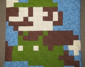 Jumping Luigi Quilted Pillow Cover - Free Shipping