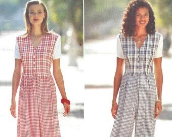 Butterick 3975 Misses' Dress & Jumpsuit - Vintage PATTERN - Sizes 12, 14, 16