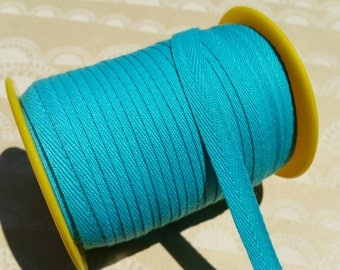"Turquoise Twill Tape Trim - Sewing Banners Bunting Shipping Packaging - 3/8"" Wide - 10 Yards"