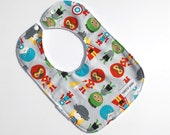 Superhero Toddler Bib - Baby Bib - Superheros Bib - Toddler - Baby Shower Gift - hero