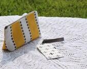Gift Set - Yellow and Gray Fleur de Lis