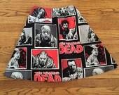 Black Friday/Cyber Monday Sale! Free Shipping! Walking Dead Novelty Print Skirt Custom Zombie Geek Nerd Cosplay ComicCon