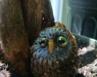 Pigwidgeon the Owl Polymer Clay Sculpture Animals