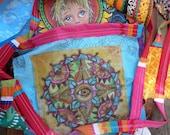 Prayer Flags, Hippie Festival, Singleton Art, Evil Eye Art, All Seeing Eye,  Visionary Art, Spiritual Art, Protective eye, third eye, A90