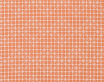 Joel Dewberry Fabric by the Yard - Botanique - Domino in Apricot  - Quilter's Cotton