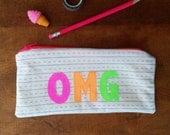 OMG Pencil Case Kids Pencil Case Pencil Pouch Zipper Pouch School Supplies Pouch