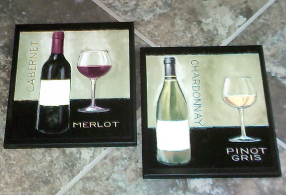 Wine Theme Kitchen Wall Decor Plaques Set Of By