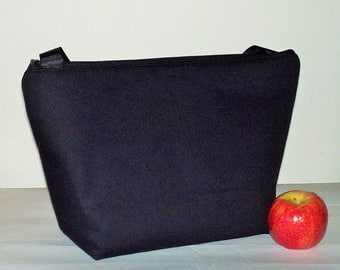 Insulated Lunch Bag Tote  Eco Friendly Zip Plain Black Lunch Bag Man Lunch Bag by BonTons
