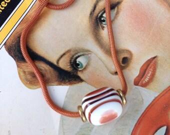 Vintage Diane Von Furstenberg Lucite Choker 80s Choker Necklace