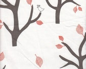 Windham Fabrics Bella Trees in White and Orange - Half Yard