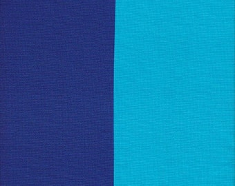 Clothworks Urban Landscapes Two Tone Royal and Turquoise Solid - Half Yard