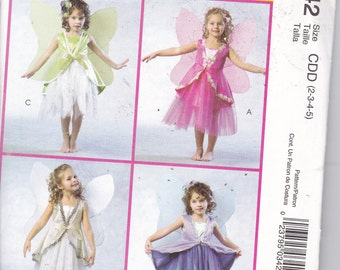 OOP New 2005 McCall's Costumes MP342 Children and Girls Fairy Costumes for sizes 2-5