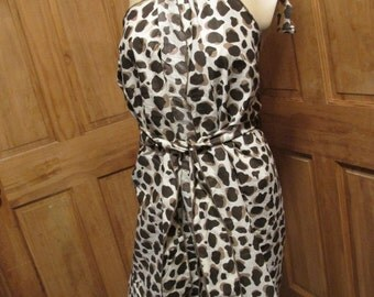 SALE - Animal Print Halter Wrap Summer Dress/Beach Cover Up (4659)