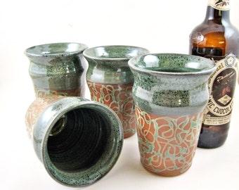 Ready to ship, ceramic beer glass, beer mug, English pint, beer pint, set of 4 beer mugs 16 oz. - in stock