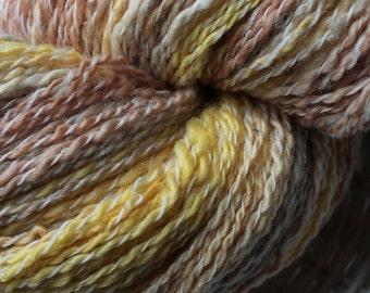 Handspun hand-dyed yarn