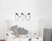 Three Little Penguins- Wall Decal