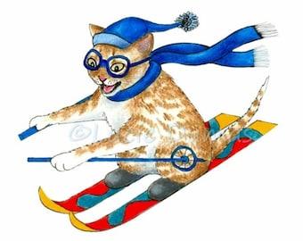 Skiing clipart | Etsy