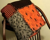 "Handmade Halloween Nightmare Before Christmas Sofa/Lap Quilt, 52"" X 60"" 100% cotton"