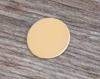 Rose Gold Fill Disc 20g - 1 3/8 inch