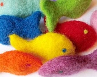 Needle Felted Wool Catnip Fish Cat Toy