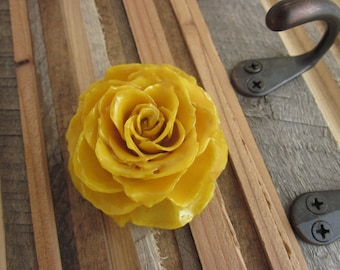 Magnetic Brooch - Real Yellow Rose - Dried preserved garden treasure, leaves, trees, Texas, southern, love, faith,faithful, pin, flowers