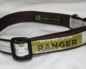 Adjustable Dog Collar from Recycled New Belgium Ranger IPA Beer Labels