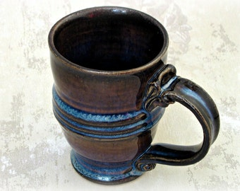 Mug in Shades of Blue and Brown