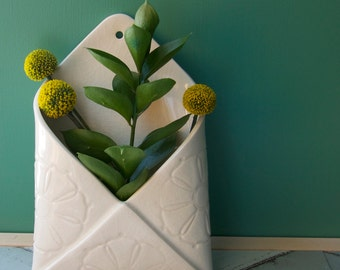 porcelain envelope wall vase