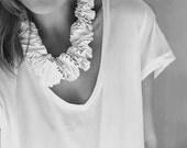 avant garde bib necklace, choker neckpiece, cream sculptural bib collar, architectural urban fashion statement necklace, PVC