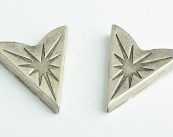 Collar Tip Western Collar Tip, 32x35mm Fancy Scrolled Collar Tip Antique Silver pk/2, Antique Silver, 02604AS