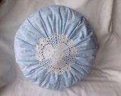 Round Doily Pillow Decorative Pillow Shabby Chic
