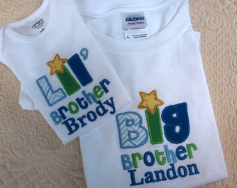 Big Brother Little Brother Big sister Little sister Onesie and Tshirt