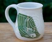 Fishy Fishy Fish Green Mug by Bunny Safari