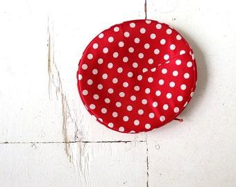 Vintage 1950s Hat / Polka Dot Hat / 50s Hat / Red Hat