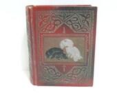Vintage Miniature Photo Album Pekingense Dog Cover Embossed Leather Type Antique Picture Album